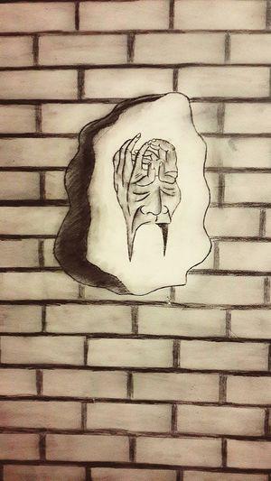 Drawings Art Psychotic Thought Hands Face Psychology Wall Art Adaptations