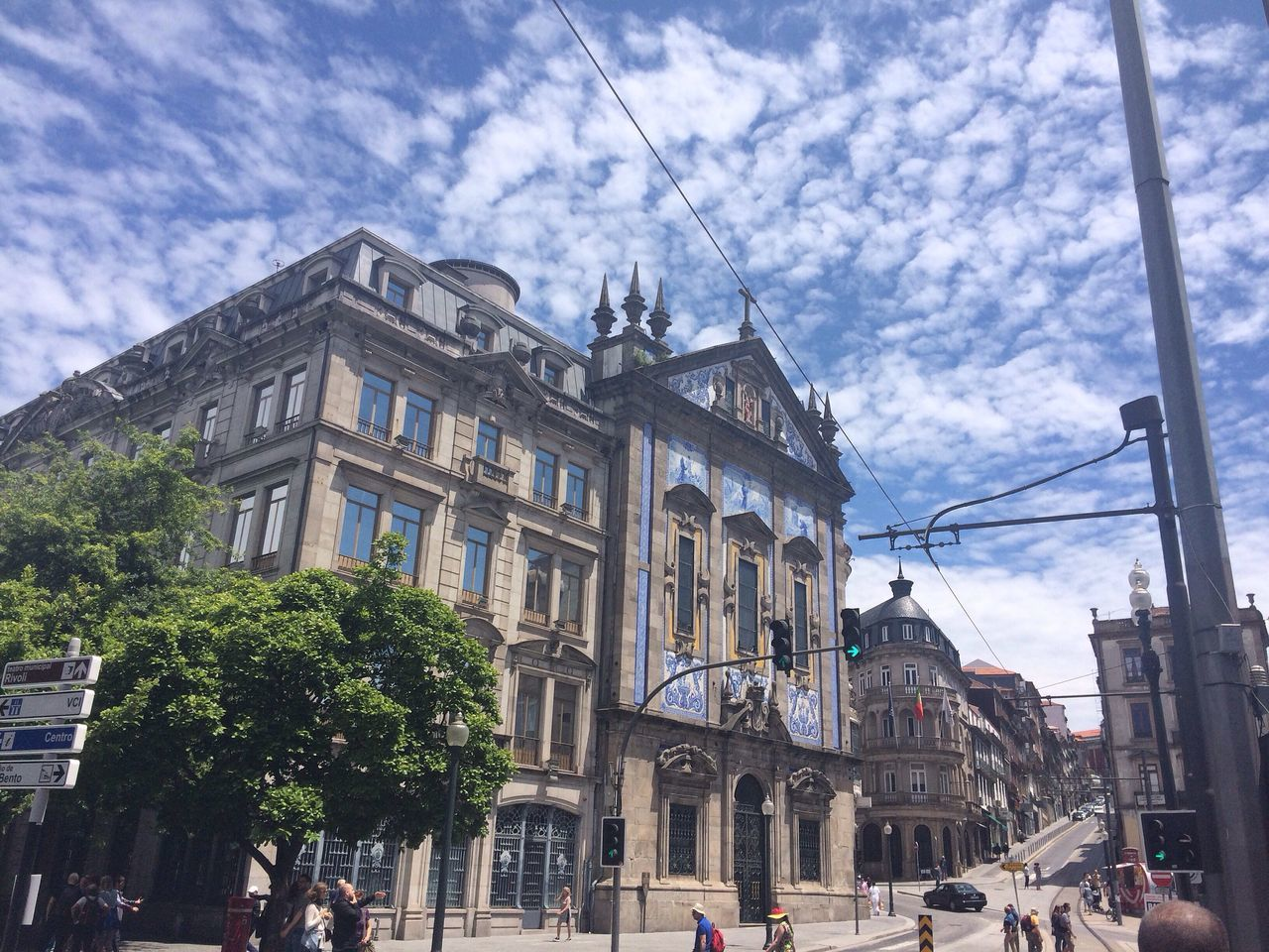 Porto Blue Sky White Clouds Architecture Street View CF Lanscape Portugal Igreja Church
