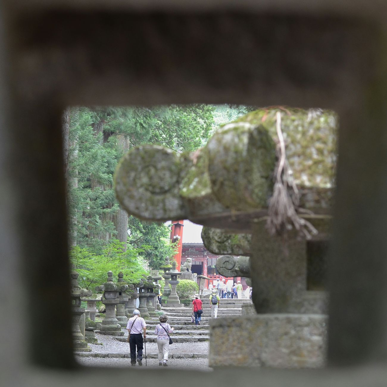 神社 参道 On The Way Japanese Shrine Stone Lanterns Square Crop People People Watching People Photography From My Point Of View Frame Within A Frame Capture The Moment EyeEm Best Shots EyeEm Best Edits