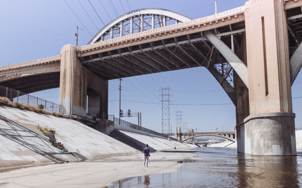 LA Adapted To The City Architecture Bridge - Man Made Structure Built Structure California City Cityscape Clear Sky Connection Day LA River Los Angeles, California North America Outdoors River Riverside Scenics Sky Transportation Traveling The City Light