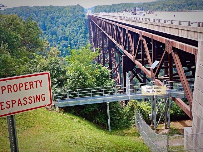 The New River Gorge bridge walk. We got to walk across the bridge on the catwalk underneath!! It's 876 feet above the river below! West Virginia aAdventure Bridge Way Too High Yikes!