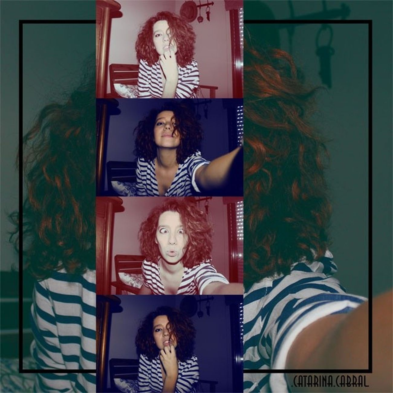SelfiesOfTheDay Selfie PlayingWithColorsOnPhotoshop Instaphoto InstaSelfie stripes ImageEdition