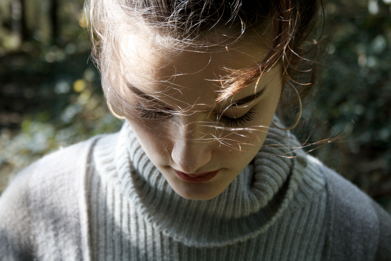 Deep in the woods. Focus Object Focus Portrait Portrait Of A Woman Outdoors Wood Forest Nature Nature_collection Autumn Face Beauty Light And Shadow People Taking Photos Shootermag EyeEm Best Shots