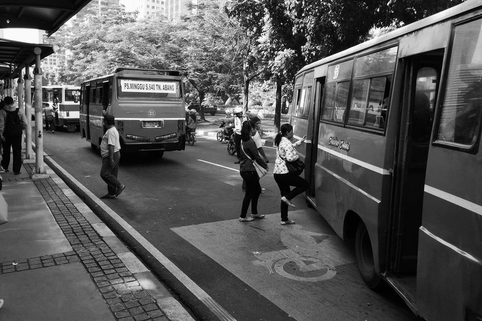 Embrace Urban Life Transportation Real People Land Vehicle Public Transportation Mode Of Transport City Life Leisure Activity Day Adult Casual Clothing Daily Life Street People City Bus