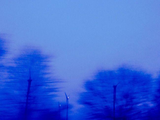 Ice Age Shadows Windrad Bäume Schatten Umwelt Climate Change
