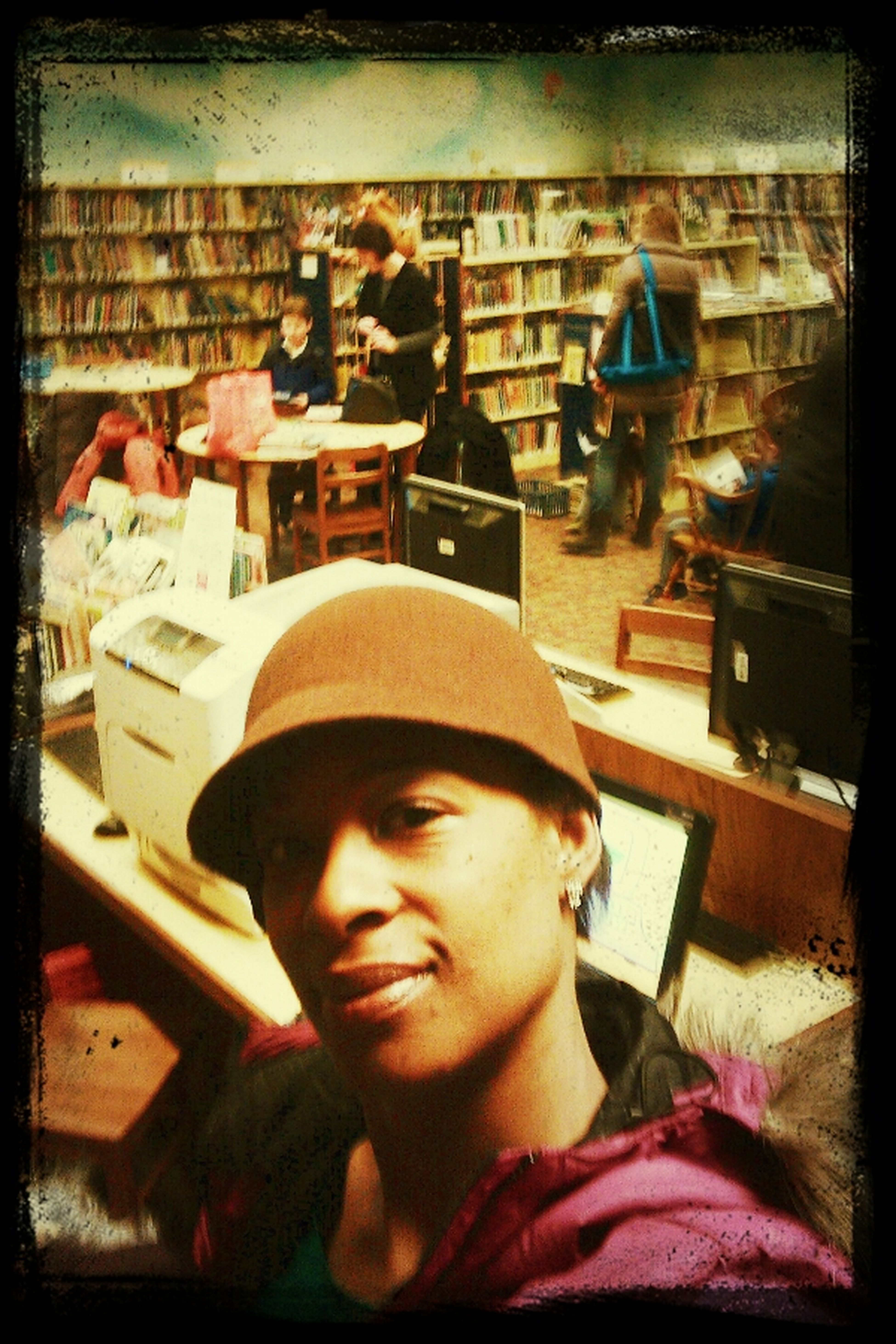 waiting on my kids Daydreaming Checking Out Books People Watching