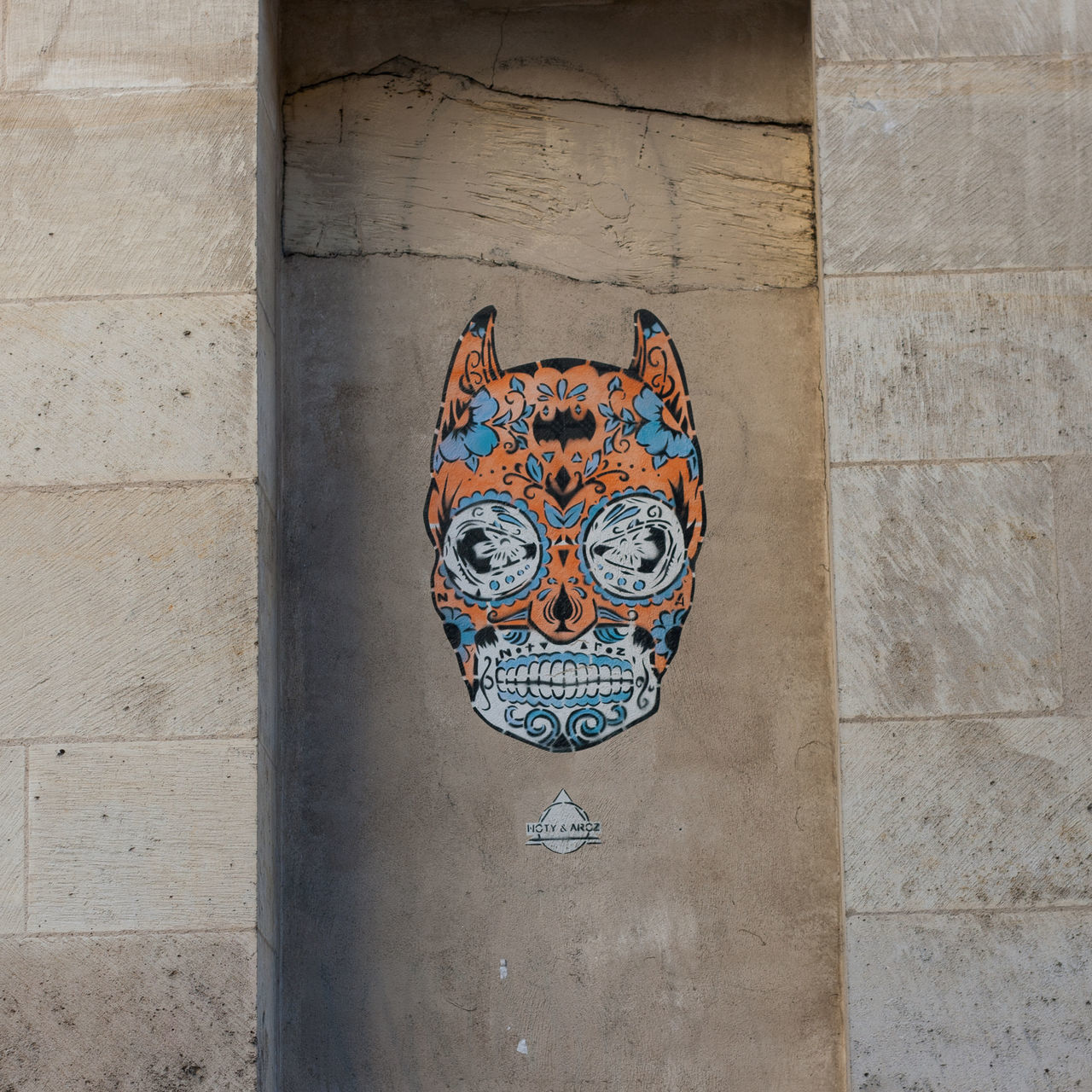 Architecture Art Batman Built Structure Day Graffiti No People Outdoors Paris Streetart Streetart/graffiti