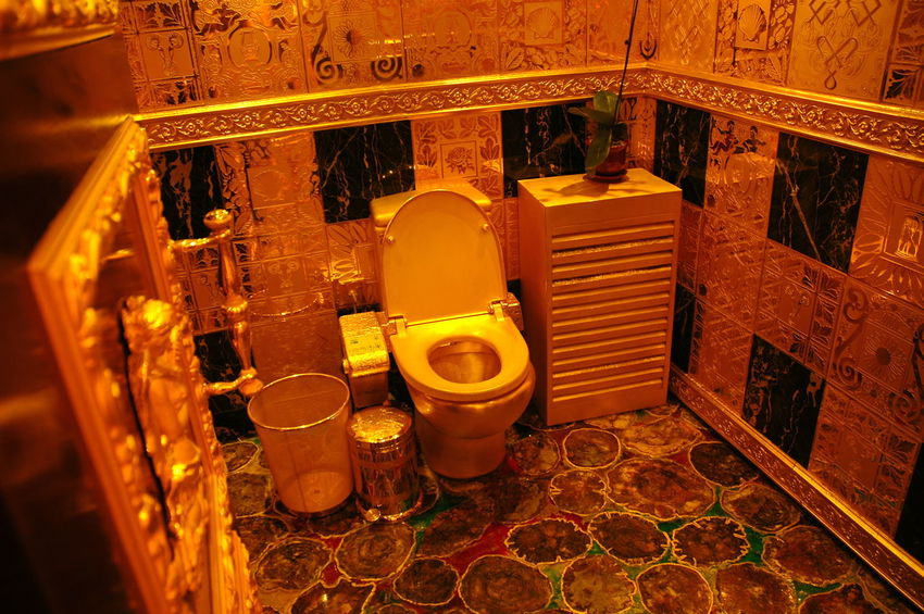 5 Million Euro Bathroom Day Expensive Gold Hang Fung Gold Indoors  No People Rich Solid Solid Gold Toilet Toilette Art Wealthy