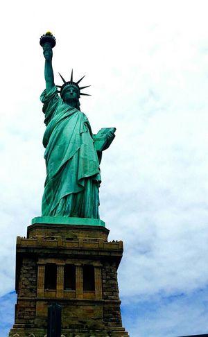 The Statue of Libert Statue Travel Destinations Sculpture Sky Outdoors