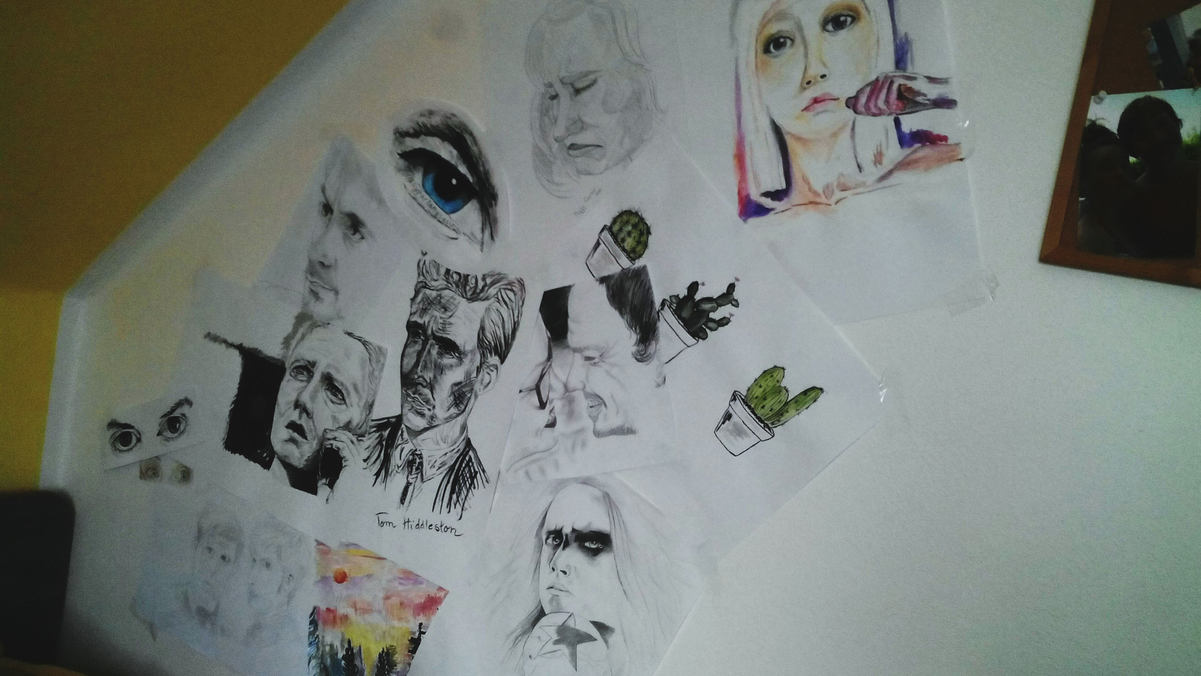 Wall full of drawings...