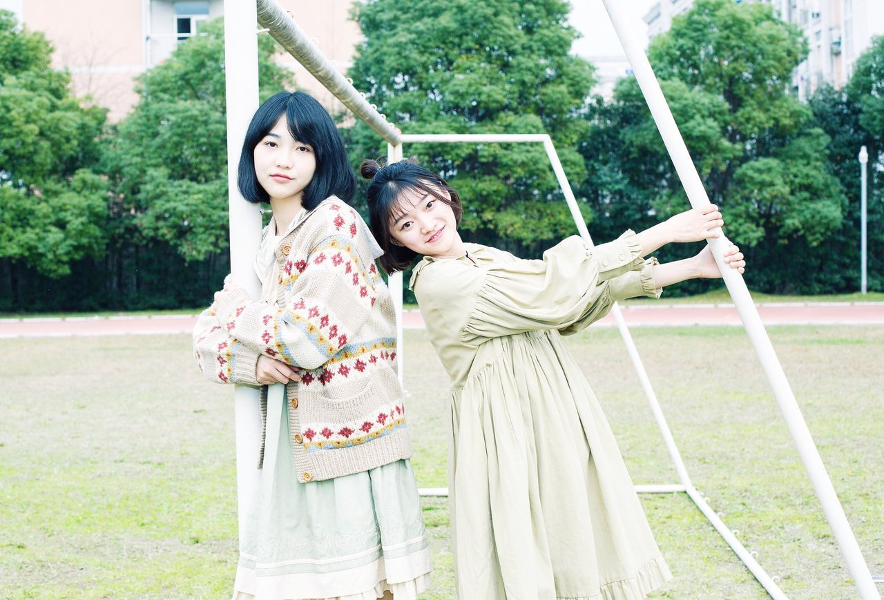 Cultures Two People Black Hair Mother Females Family Child Beautiful People Outdoors Smiling Adult People Young Adult Kimono Standing Beauty Happiness Cheerful Day Nature S ch School