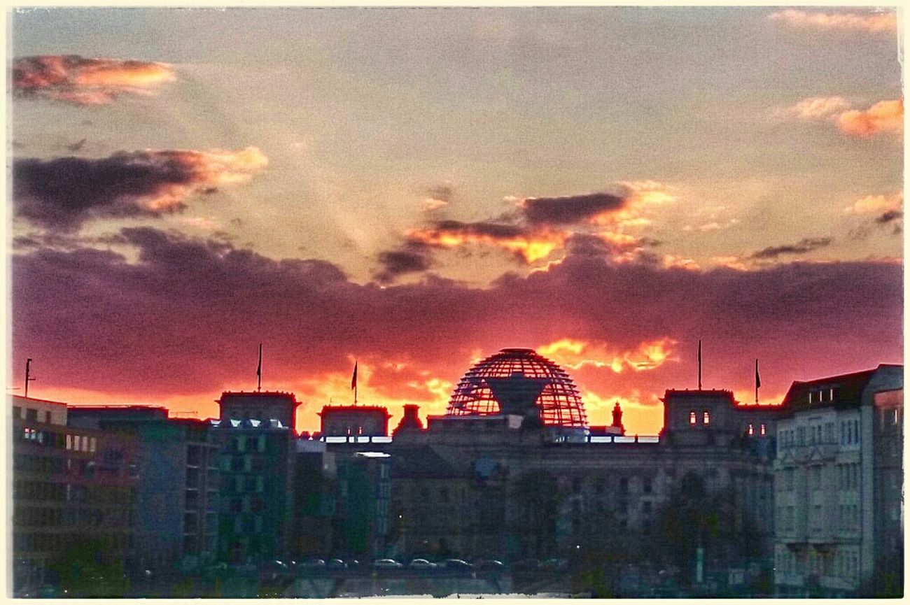 View To Reichstag My Fuckin Berlin Sunset Silhouettes Bye Bye Sun