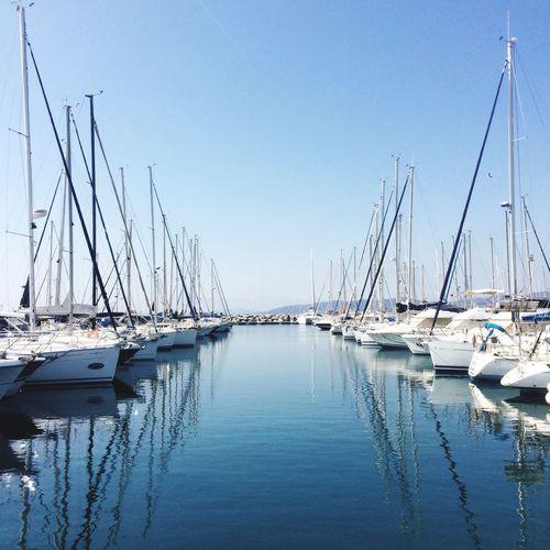 France Saint-raphaël Port Santa-lucia Symétrie Vacances Mer Soleil Magic Moments Bateaux Landscape