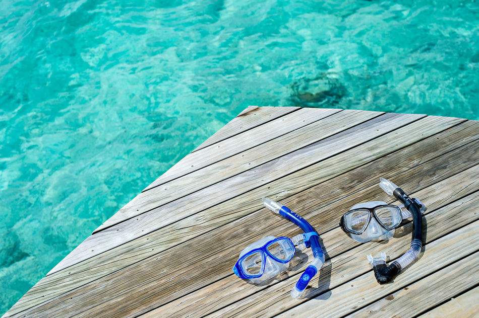 Ready to Snorkel Blue Wave Bucketlist Centara Ras Fushi Clear Water Couple Day Dive Endless Summer High Angle View Love Maldives No People No Stress Outdoors Snorkeling Snorkeling Mask Stress Free Summer Sunny Day Swim Travel Travel Destinations Vacations Water Wood - Material