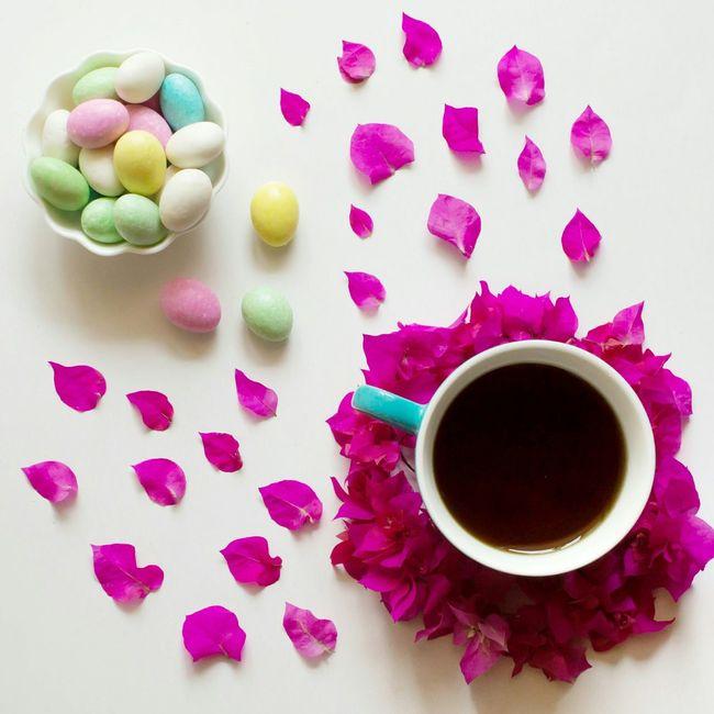 Easter morning. Easter Ready White Album Flowers Teaparty Pastel EyeEm Masterclass Flatlay EyeEm Best Shots Easter Sunday Minimalism Slow Living
