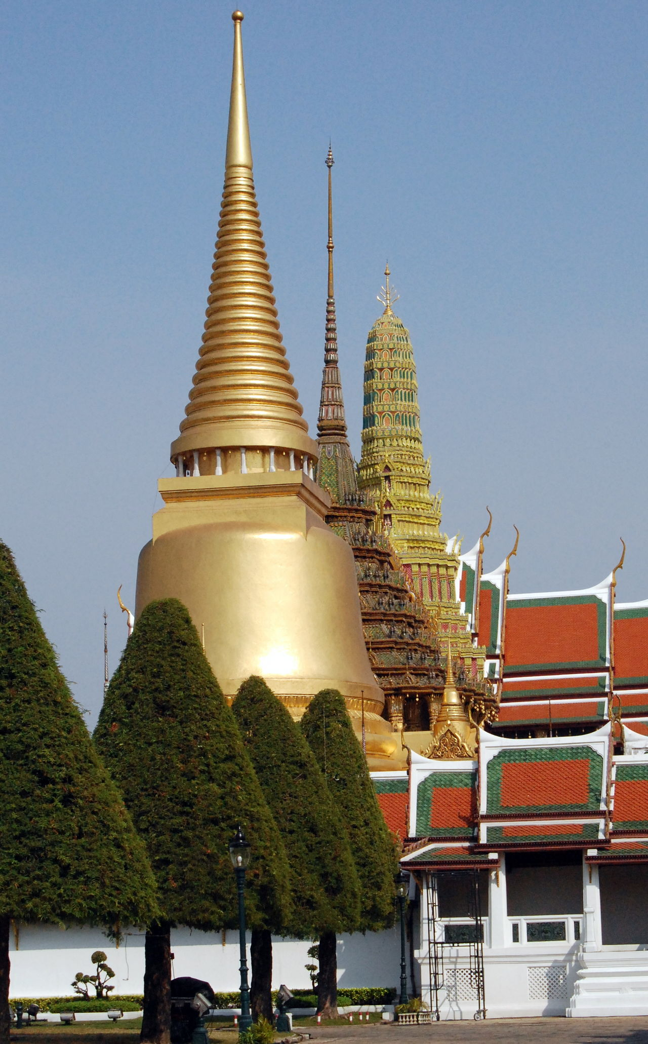 Architecture Bangkok Bangkok Thailand. Building Exterior Built Structure Clear Sky Day Gold Colored Grand Palace Grand Palace Bangkok Thailand No People Outdoors Pagoda Place Of Worship Religion Sky Spirituality Travel Destinations Tree