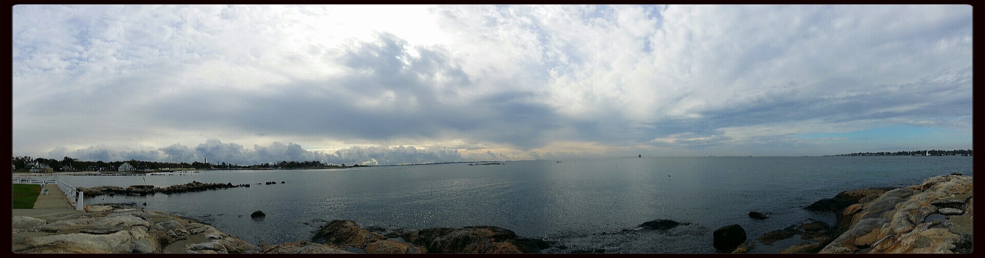 October sky over Long Island Sound Sky And Clouds Panorama The Purist (no Edit, No Filter) Life Is A Beach