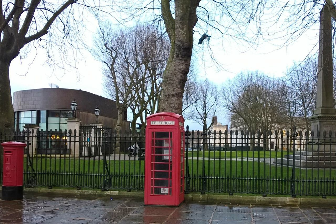 London 2 London Rain Rainy Days Rainy Days☔ Rainy Weather Red City Day City Life City Street City Moment Telephone Booth Red Telephone Box Tree Telephone Postbox Red Post Box