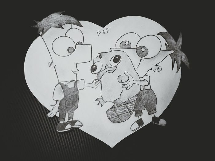 Phineas & Ferb Ideas Creativity Black Background Phineas & Ferb ☺ Phineas ❤ Perry The Platypus