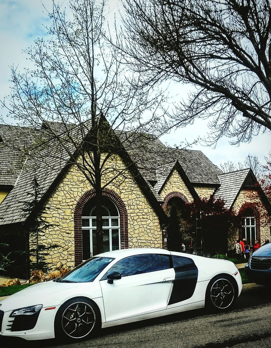 Sports Car No People Tree Sky Outdoors Irwin Collection Eyem Gallery Dusk Light Beautiful Home Lawn Home Exterior Suburban Suberbia House Home Sweet Home ❤ Early Spring Signs Car