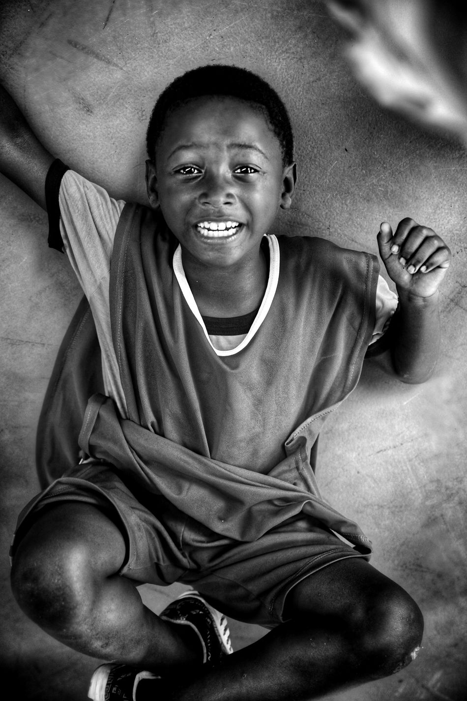 High Angle View One Person Lying Down Relaxation Lifestyles Smiling Happiness Cheerful Portrait People Close-up Leisure Activity Black & White Black And White Social Photography Children Photography Children Social Documentary Freshness