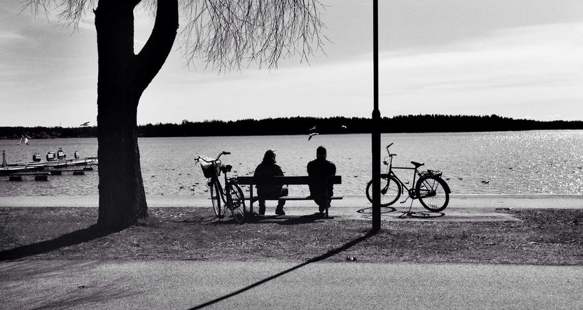 Relaxing Hanging Out Sweden Blackandwhite