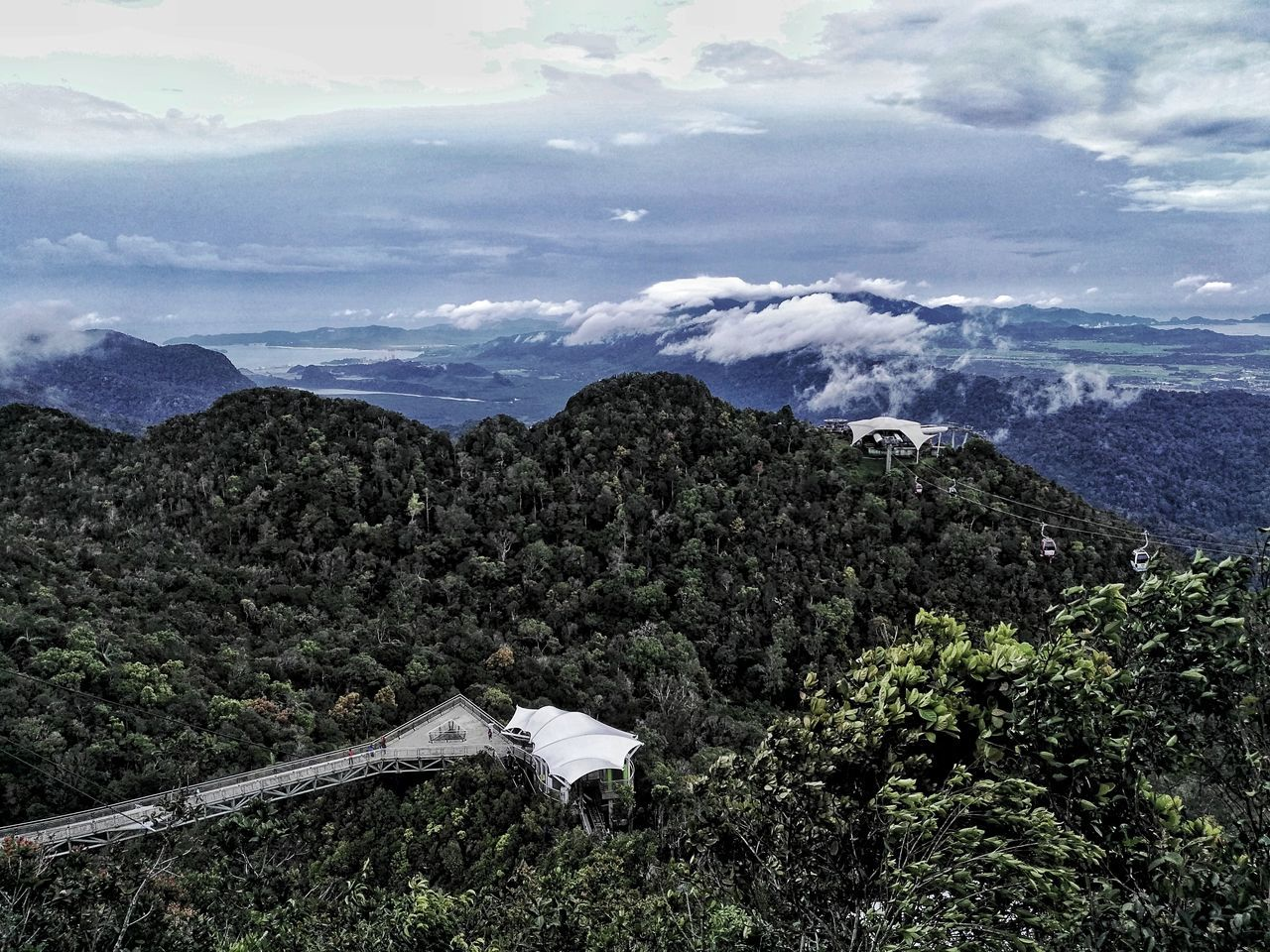 Nature Scenics Beauty In Nature Growth Mountain Agriculture Cloud - Sky Landscape Outdoors Sky Tree Plant Langkawi Cable Car Malaysia HuaweiGX8 Photooftheday Skybridge Langkawi Island Huawei Shots Huaweiphotography My Favorite Place My Favourite Place Freshness Tranquil Scene