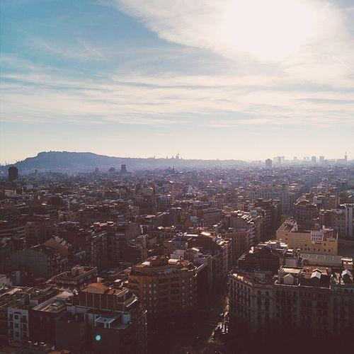 Barcelona desde la torre de la Pasión de La Sagrada Familia. CaminandoBarcelona