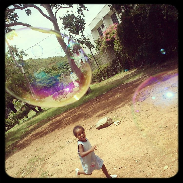 Chasing bubbles Playing With Bubbles Bubbles ♥ Bubble Fun Fun&laughter