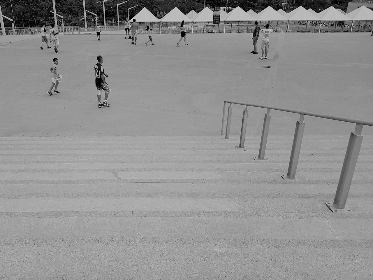 Sport Stadium Stairs People Leading Lines Architecture Streetphotography Rio2016 Olympics Blackandwhite Walking Around People Walking  Mineirão Esplanada Mineirão