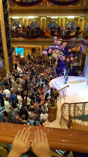 Disney cruise around Halloween Arts Culture And Entertainment Large Group Of People Music Leisure Activity Lifestyles Nightlife Men Indoors  People Enjoyment Fun Crowd Real People Women Illuminated Night Togetherness Nightclub Adult Audience