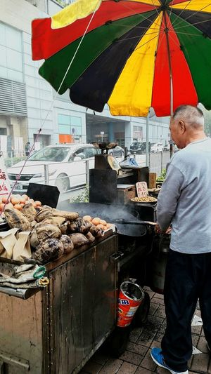 Hawker Sweetpotato Chestnut Baked Food Street Photography Cooking Hang Hau
