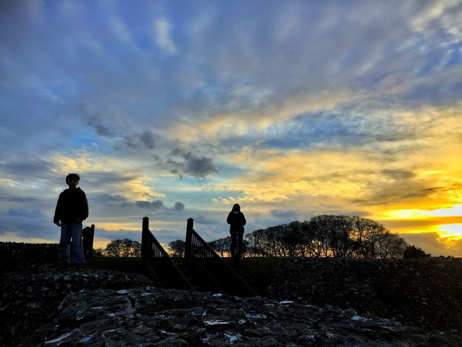 Hill Fort Old Sarum Salisbury Sky Scenics Cloud - Sky Nature Outdoors Men Beauty In Nature Tranquility Leisure Activity Field Landscape Sunset Tranquil Scene Real People Day Week On Eyeem