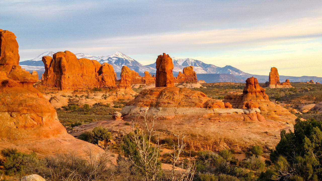 Arches National Park, Utah Arid Beauty In Nature Eroded Geology Landscape Nature Non-urban Scene Old West  Outdoors Physical Geography Remote Rock - Object Rock Formation Rocky Mountains Sandstone Scenic Landscapes Scenics The Old West Tranquil Scene Tranquility Travel Travel Destinations Wind Erosion
