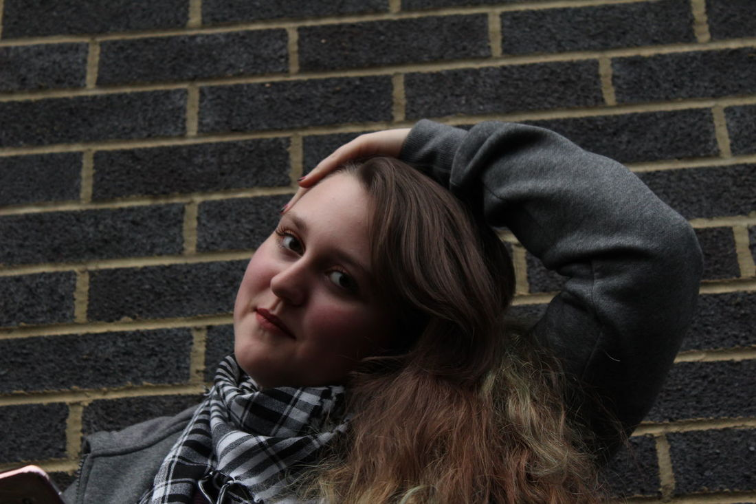 Photo 12 Fashion/Editorial work for college. Arm Brick Wall Canon Close-up College Day Face Fashion Hair Hand Headshot Hood - Clothing One Person One Teenage Girl Only Outdoors People Phone Photography Portrait Project Real People Scarf Teenager Warm Clothing Young Adult