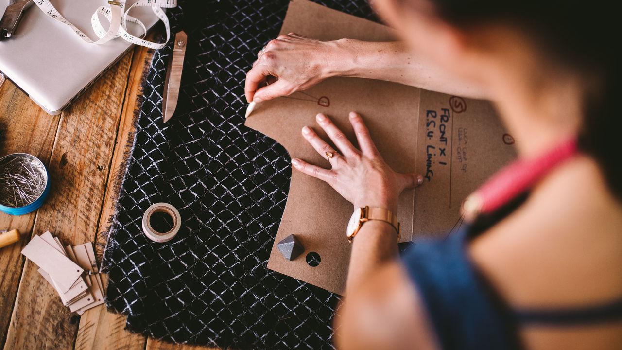 Business Craft Creativity Desk DIY Diy Project Drawing Fashion Design Handcraft Handmade Hands Needle Pencil Ruler Tape Textile Tool Wokring Woman
