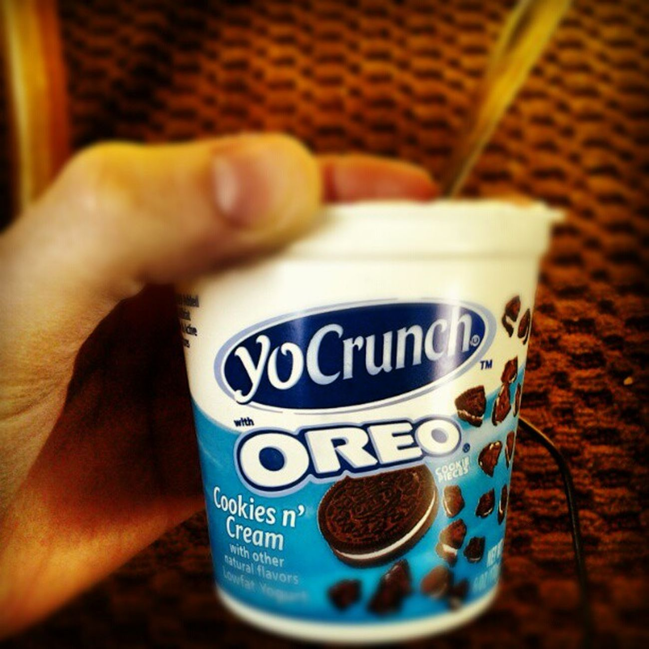 Yocrunch Oreo Breakfast Instagood yum goodmorning sogood yogurt pretendtobehealthy