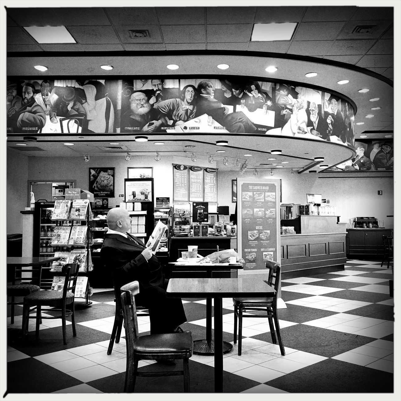 People Watching Blackandwhite Monochrome IPhoneography Hipstamatic