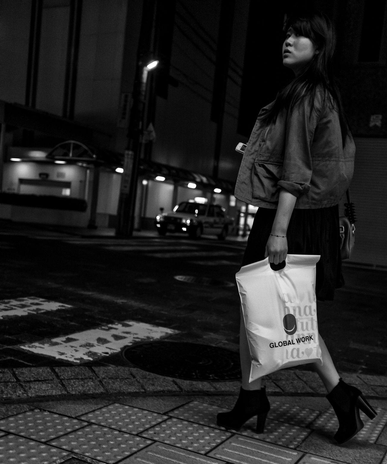 Global Work Japan Japanese  ASIA Streetphotography Fashion Street City Night FujiX100S Blackandwhite