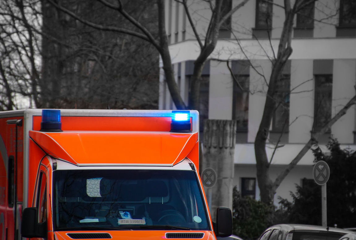 emergency ... Ambulance Ambulance Lights Autumn Berlin Blaulicht Car Close-up Cropped Emergency Vehicle Feuerwehr Focus On Foreground Guidance Krankenwagen Mode Of Transport Perspective Protection Rot Selective Focus Urbanexploration