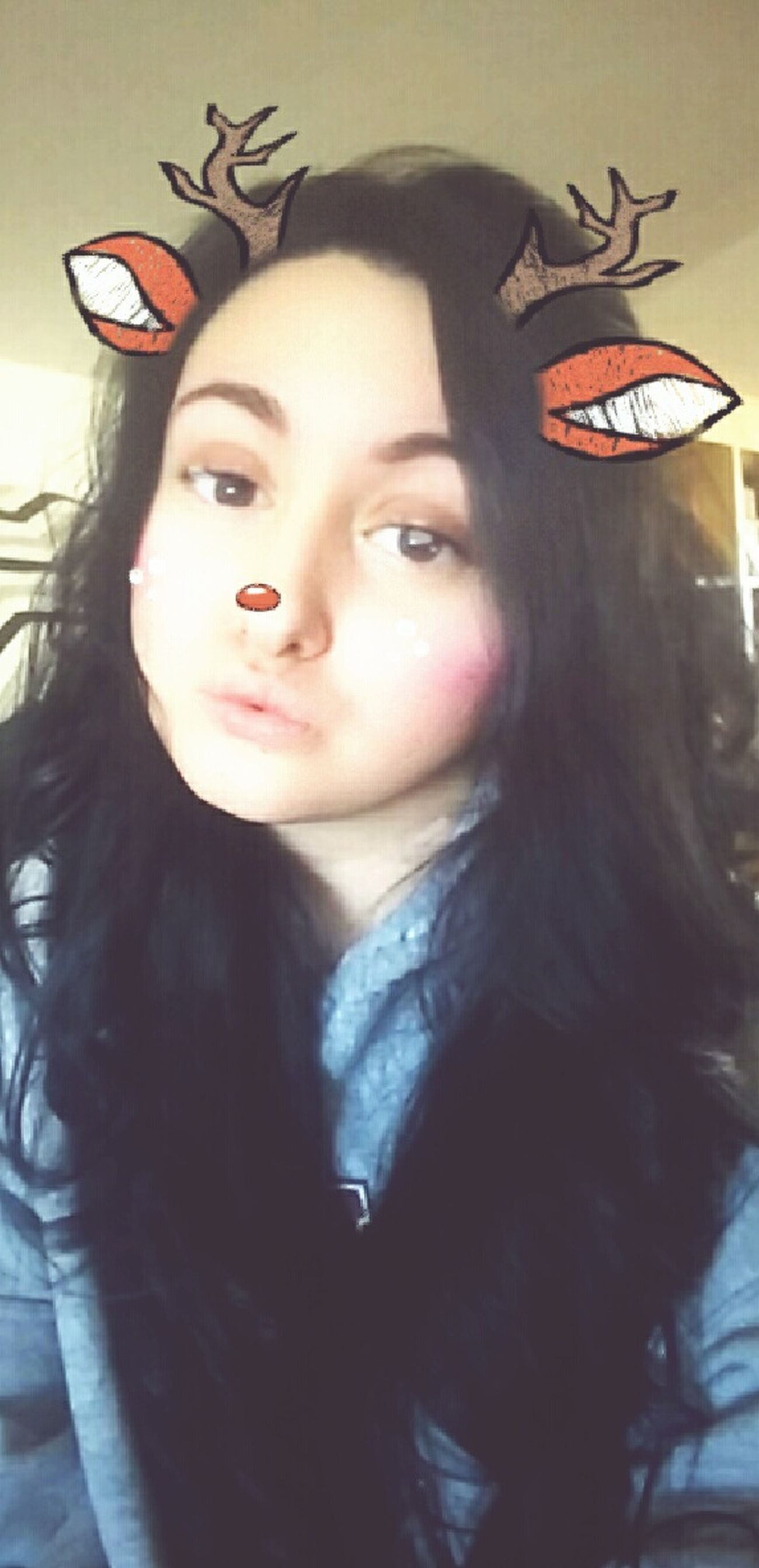 I have a huuuge obsession with this filter😂 Girl Modelgirl Model Snapchat Selfies Snapchat No Make-up No Makeup Without Makeup Beautiful Cozy At Home Christmas Spirit Reindeer Sexygirl SexyGirl.♥