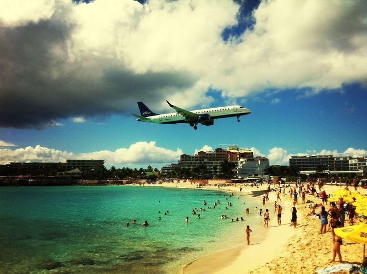 Sunshine Flight Saint Martin Sea