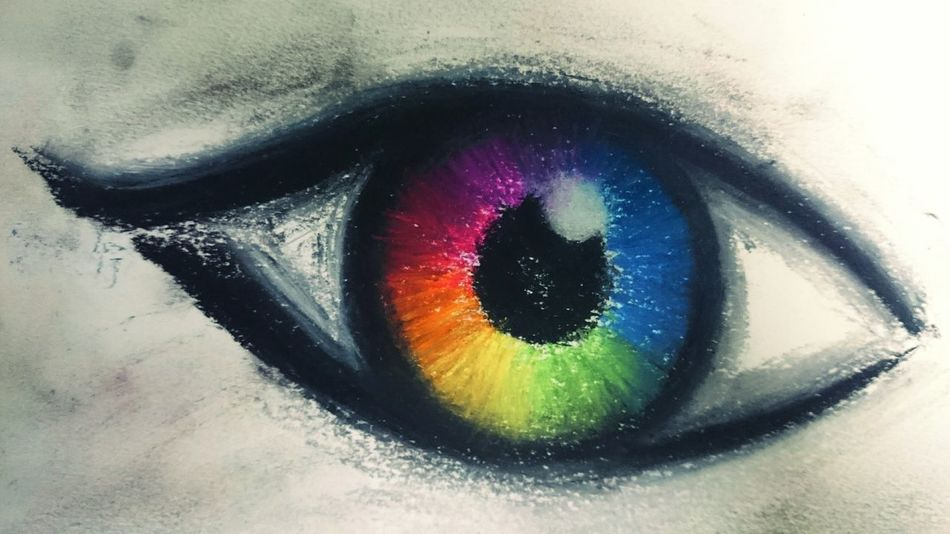 Seeing through spectrums. Eye4photography  Better Look Twice Punny Sketch Drawing Rainbow Colours Soft Pastels Getting Inspired The Week On EyeEm Showcase: January Check This Out