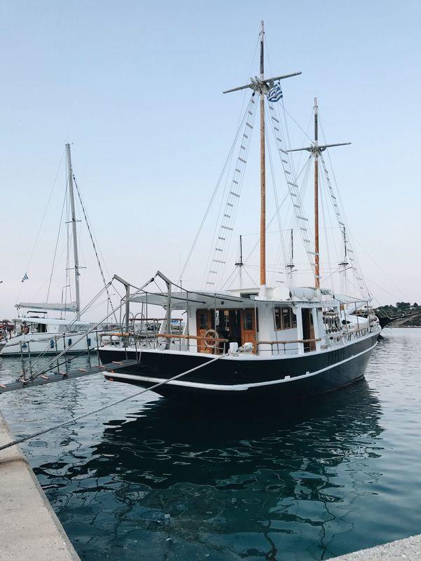 Boats in marine Ormos Panagias, Greece City GREECE ♥♥ Mediterranean  Nature Transportation Travel Beauty In Nature Blue Boat Marine Sea Sithonia Vacation