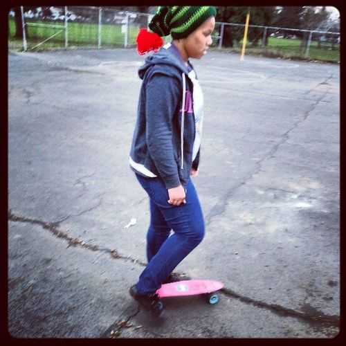 This is after the 720 she did off the ramp. Skater Totallyrad Shweet