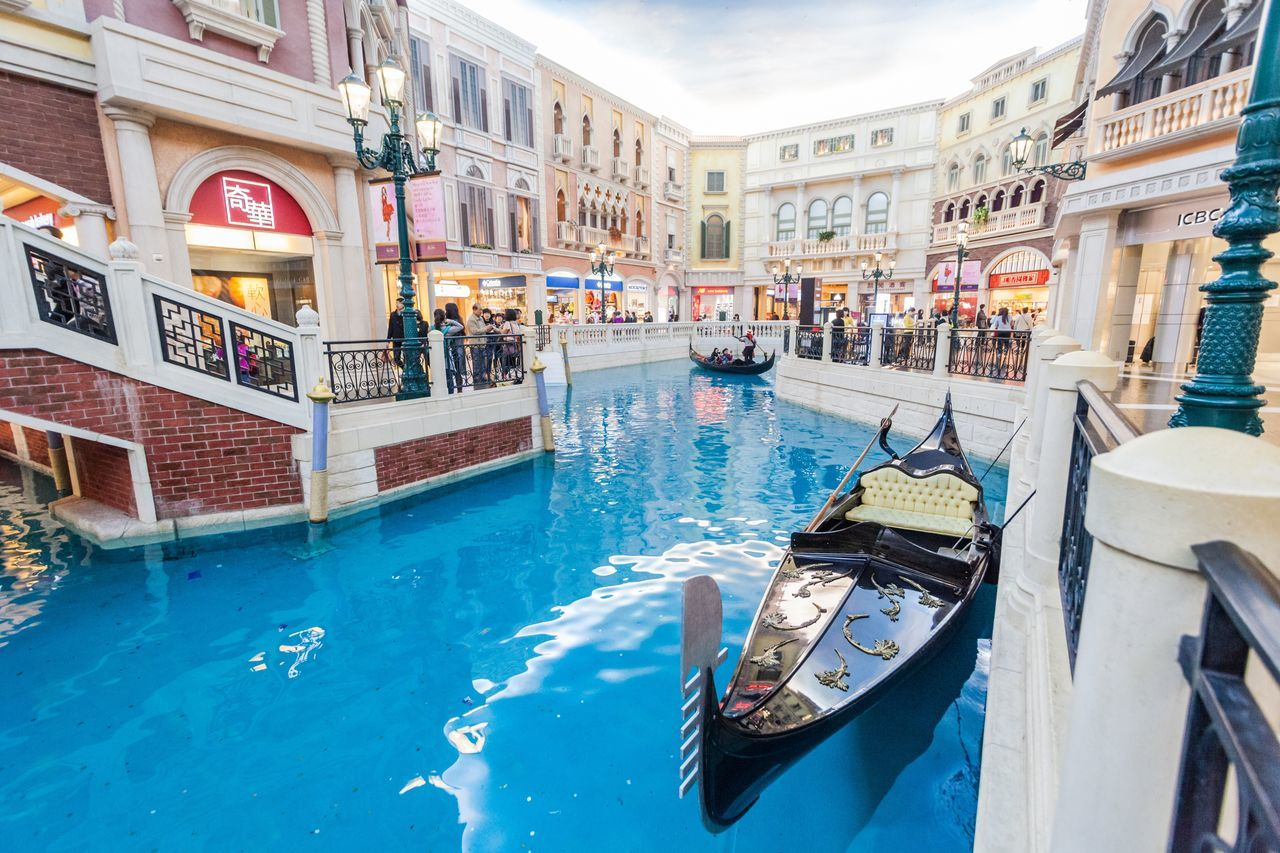 The Venetian Macao is a luxury hotel and casino resort in Macau owned by the American Las Vegas Sands company. Architecture Casino Cotai CotaiStripMacau Day Gondola - Traditional Boat Hotel Interior Interior Design Macao  Macao China Macau Macau, China No People Outdoors Shopping Shopping ♡ Swimming Pool The Venetian The Venetian Macau Resort Hotel Vacations Venetian Water