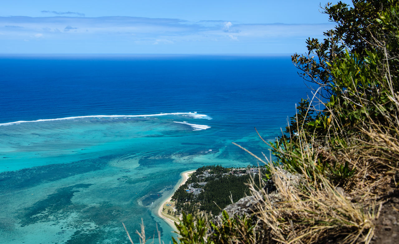 Oceanview from Le Morne Mountain Beach Beauty In Nature Coastline Day Horizon Over Water Mauritius Nature No People Outdoors Scenics Sea Tourism