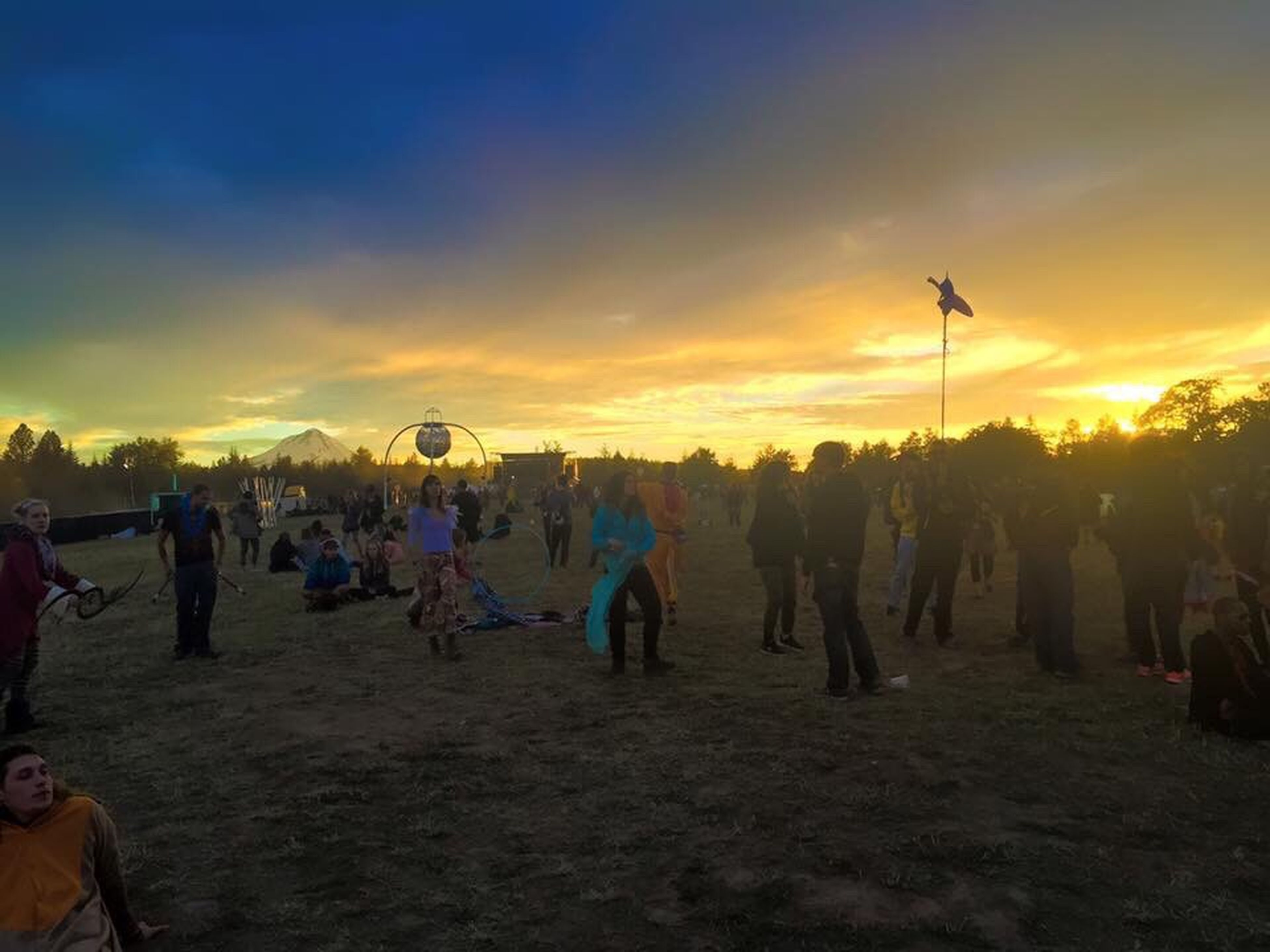 large group of people, sunset, cloud - sky, crowd, people, city, full length, sky, outdoors, adult, adults only, day