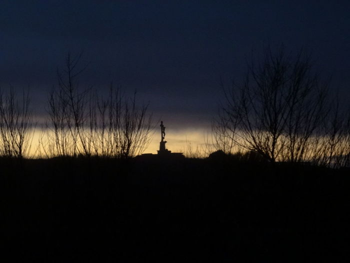 Silhouette Sky Sunset Tranquil Scene Tranquility Outdoors No People Nature Scenics Astronomy Far Coast