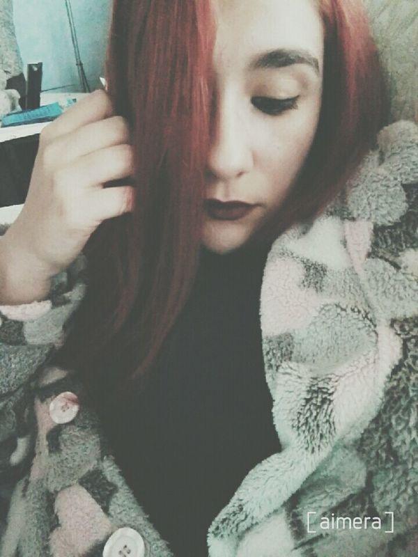 Selfie Girl Pelirroja Enllamas Girltumblr Make Up Fashion Tumblr Lipstick Tumblrgirl Fashiongirl